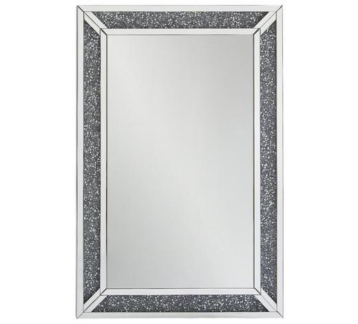 ZRCADLO, 80/120/4 cm,  - barvy stříbra, Lifestyle, kompozitní dřevo/sklo (80/120/4cm) - Xora