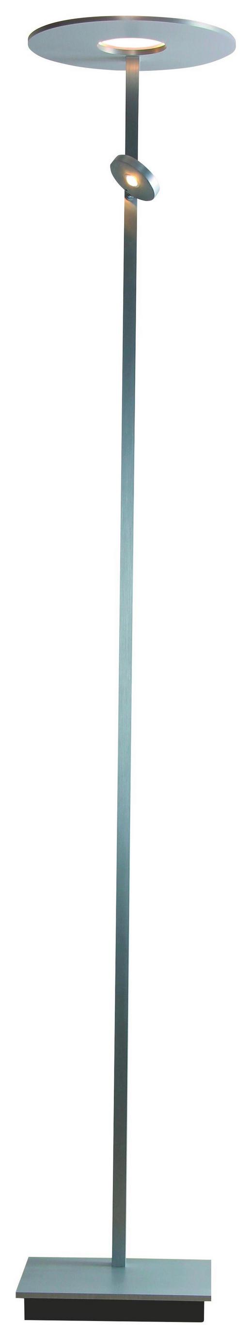 LED-STEHLEUCHTE - Alufarben, LIFESTYLE, Metall (180cm)
