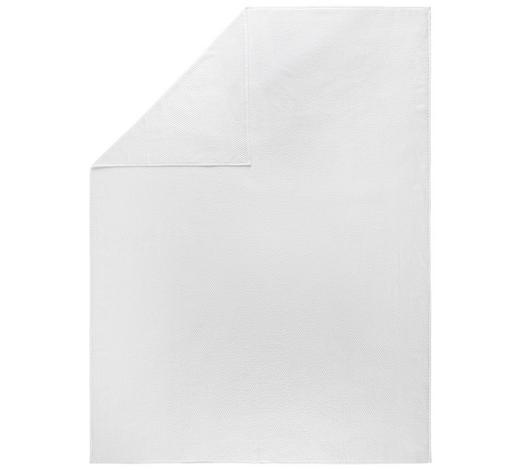 DECKE 150/200 cm - Weiß, Basics, Textil (150/200cm) - Boxxx