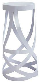 BARSKI STOL, bela - bela, Design, kovina (38/77/38cm) - Novel
