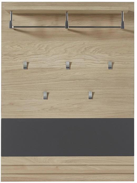 GARDEROBENPANEEL - Eichefarben/Graphitfarben, Natur, Holzwerkstoff (85/116/28cm)