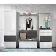 PREDSOBA siva, bela - siva/bela, Design, leseni material (260/200/40cm) - Xora