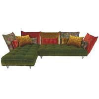 WOHNLANDSCHAFT in Textil Multicolor - Multicolor, Trend, Textil/Metall (342/217cm) - Bretz