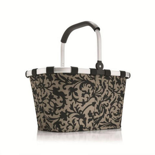 CARRYBAG BAROQUE TAUPE - Taupe, Basics, Textil/Metall (48/29/28cm) - Reisenthel