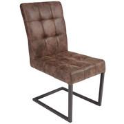 SCHWINGSTUHL Lederlook Braun  - Anthrazit/Braun, Trend, Textil/Metall (42/91/62cm) - Carryhome