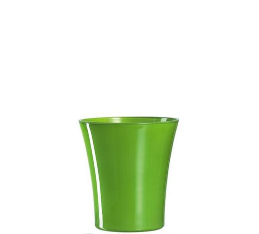 ORCHIDEENÜBERTOPF - Limette, Basics, Glas (15cm) - Leonardo