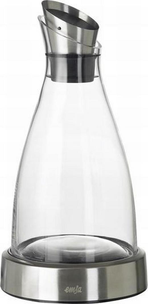 WASSERKARAFFE 1 L - Edelstahlfarben, Basics, Glas/Metall (1l) - Emsa