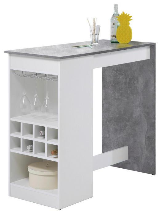 BARTISCH rechteckig Hellgrau, Weiß - Hellgrau/Weiß, Design, Metall (115/104/50cm) - Carryhome