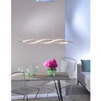 LED-HÄNGELEUCHTE - Nickelfarben, Design, Metall (110/80/40-140cm)