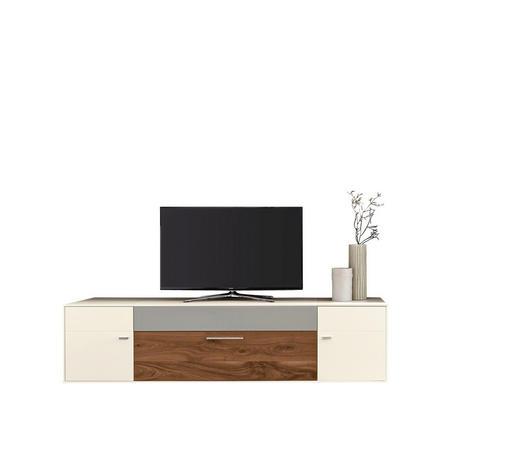 TV-ELEMENT 230/57/56 cm - Chromfarben/Nussbaumfarben, Design, Holz/Holzwerkstoff (230/57/56cm) - Moderano