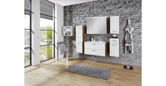 Waschbeckenunterschrank mit Soft-Close Avensis B: 90cm - Eichefarben/Weiß, MODERN, Holzwerkstoff (90/53/45cm) - Luca Bessoni