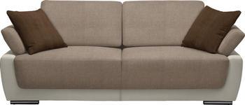 SCHLAFSOFA in Textil Beige, Braun, Naturfarben - Chromfarben/Beige, Design, Holz/Textil (214/83/95cm) - Venda