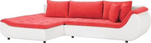 WOHNLANDSCHAFT Webstoff Rückenkissen, Schlaffunktion, Zierkissen - Rot/Schwarz, Design, Kunststoff/Textil (185/310cm) - Carryhome
