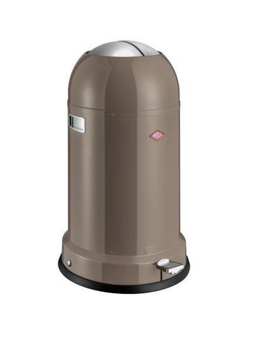 ABFALLSAMMLER Kickmaster CL Soft 33 L - Taupe/Edelstahlfarben, Basics, Kunststoff/Metall (41/69cm) - Wesco