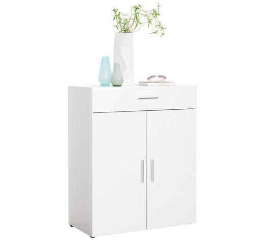 KOMMODE 80/98/40 cm  - Chromfarben/Weiß, Design, Holzwerkstoff/Kunststoff (80/98/40cm) - Xora