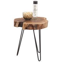 BEISTELLTISCH in Holz, Metall 46/50/48 cm - Schwarz/Akaziefarben, Trend, Holz/Metall (46/50/48cm) - Ambia Home