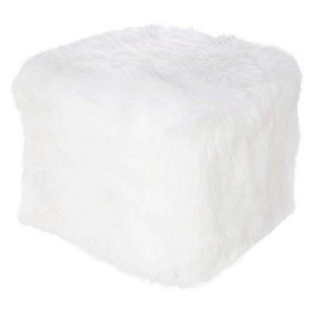 XXXL POUF Uni Weiß
