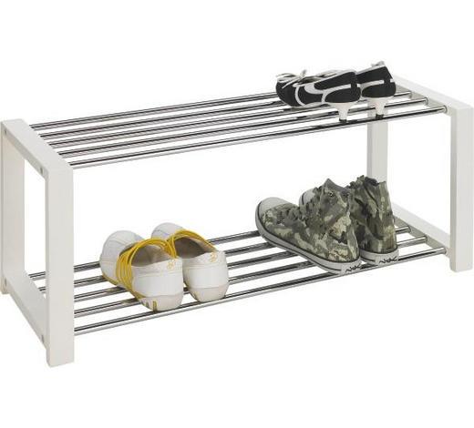 STALAK ZA OBUĆU - bijela/boje kroma, Design, drvni materijal/metal (80/32/30cm) - Xora