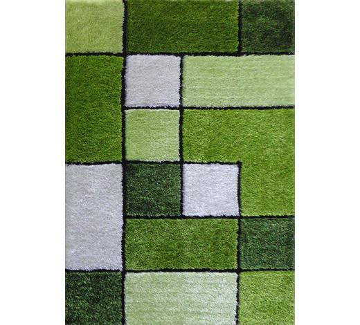 HOCHFLORTEPPICH - Grün, KONVENTIONELL, Textil (120/170cm) - Novel