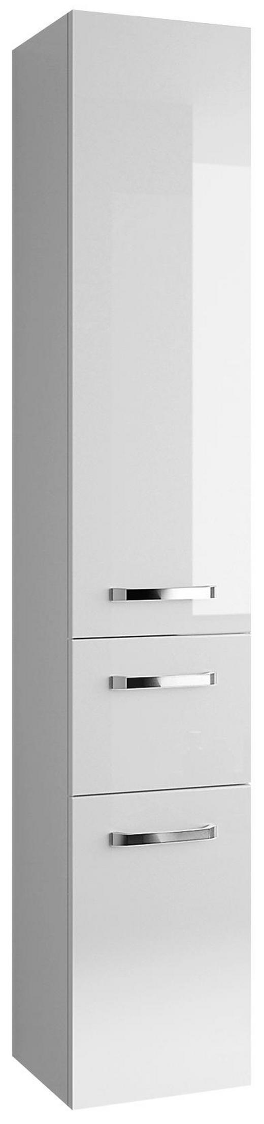 HOCHSCHRANK Weiß - Chromfarben/Weiß, KONVENTIONELL, Glas/Holzwerkstoff (30/168/33cm) - Xora