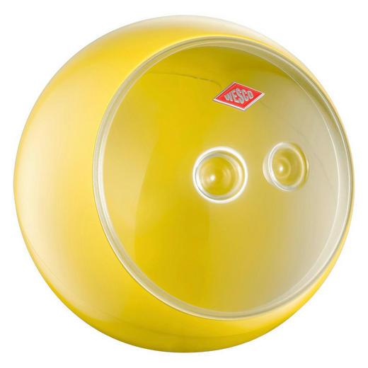 AUFBEWAHRUNGSBOX - Transparent/Gelb, Kunststoff/Metall (24,8/22,5cm) - Wesco