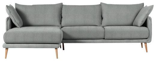 WOHNLANDSCHAFT in Textil Dunkelgrau - Dunkelgrau/Naturfarben, Design, Holz/Textil (160/270cm) - Carryhome