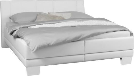 Polsterbett 180 cm   x 200 cm   in Textil Weiß - Chromfarben/Weiß, KONVENTIONELL, Holz/Kunststoff (180/200cm) - Xora