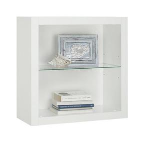 HYLLA - vit, Design, glas/träbaserade material (60/60/26cm)