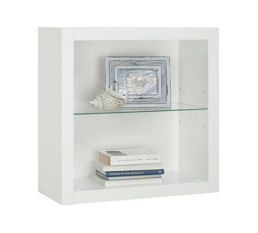 REGAL in Weiß - Weiß, Design, Glas/Holzwerkstoff (60/60/26cm)