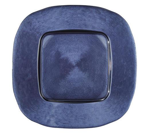 PLATZTELLER 34/34 cm - Blau, Design, Glas (34/34cm) - Novel
