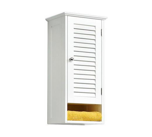 HÄNGESCHRANK Weiß  - Chromfarben/Weiß, Design, Holzwerkstoff/Metall (32/68/18cm) - Carryhome