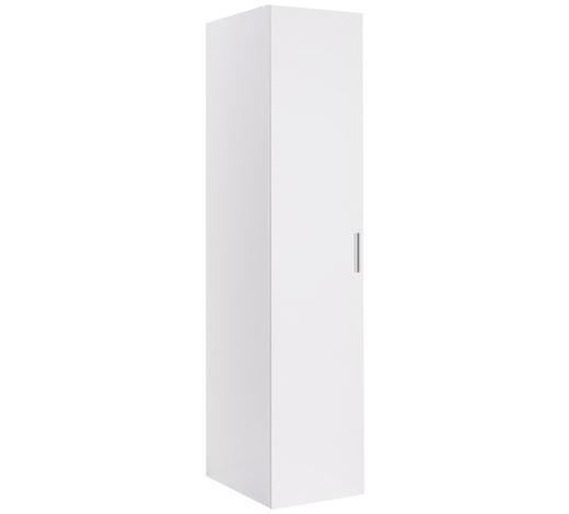 ŠATNÍ SKŘÍŇ, bílá,  - bílá/barvy chromu, Design, kompozitní dřevo/umělá hmota (40/185/54cm) - Xora