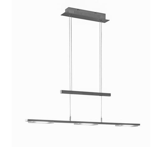 LED-HÄNGELEUCHTE - Nickelfarben, Design, Metall (87,5/150/7cm) - Novel
