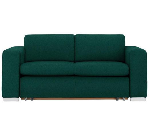 SCHLAFSOFA in Textil Grün  - Silberfarben/Grün, KONVENTIONELL, Kunststoff/Textil (190/83/98cm) - Carryhome