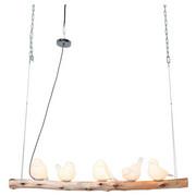 HÄNGELEUCHTE - Weiß/Kieferfarben, LIFESTYLE, Holz/Keramik (120/120/15cm) - Kare-Design