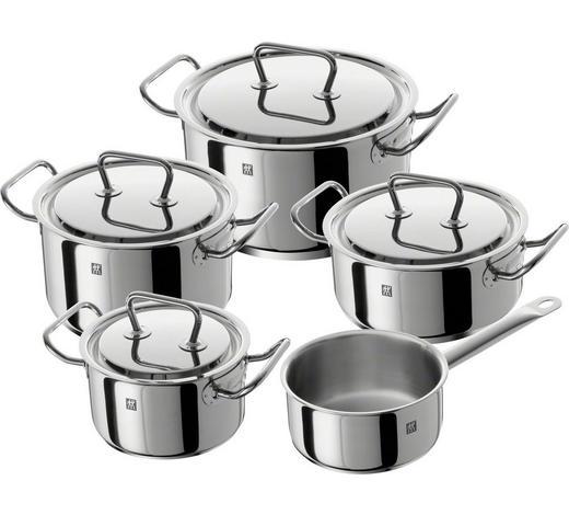 KOCHTOPFSET  Edelstahl  5-teilig   - Edelstahlfarben/Silberfarben, Basics, Metall - Zwilling