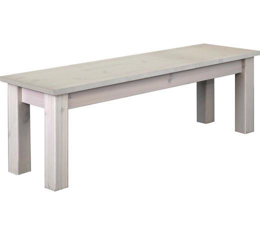SITZBANK Kiefer massiv Weiß  - Weiß, LIFESTYLE, Holz (140/45/40cm) - Carryhome