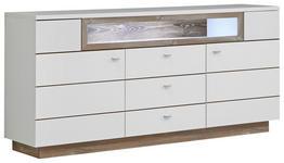 SIDEBOARD matt Kieferfarben, Weiß - Alufarben/Weiß, KONVENTIONELL, Holz/Metall (180/85/41,6cm) - Hom`in