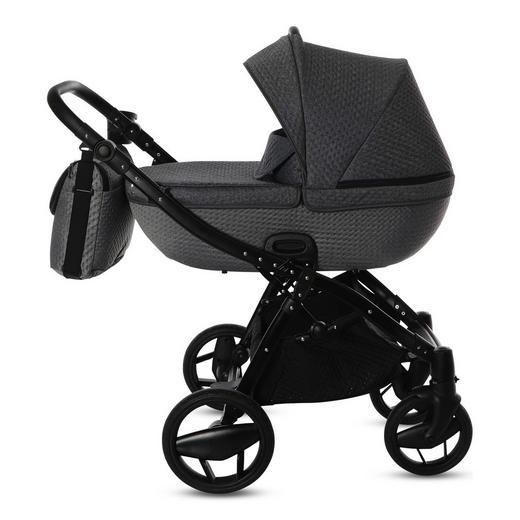 Piquetto  Knorr-Baby Kinderwagenset  Silberfarben - Silberfarben/Schwarz, Basics, Textil/Metall (60/107/110cm)