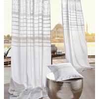 SCHLAUFENVORHANG transparent  - Weiß, LIFESTYLE, Textil (140/245cm) - Landscape