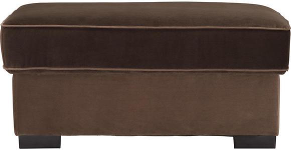 HOCKER in Textil Braun - Braun, Trend, Kunststoff/Textil (101/45/69cm) - Hom`in