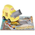 Holzpuzzle mit Bulldozer - Gelb/Multicolor, Basics, Kunststoff (14.6/10/15cm) - My Baby Lou