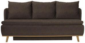 BOXSPRINGSOFA in Textil Braun  - Braun, KONVENTIONELL, Holz/Textil (207/95/121cm) - Venda