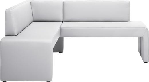 ECKBANK Lederlook Weiß - Weiß, KONVENTIONELL, Textil (150/190cm) - Carryhome