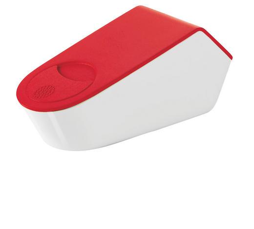 VEČNAMENSKI STRGALNIK - rdeča/bela, Konvencionalno, kovina/umetna masa (19,40/9,40/8,00cm)