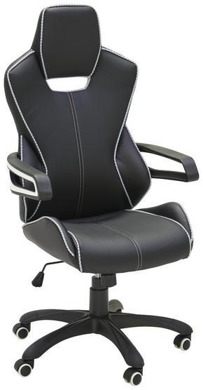 GAMINGSTOL - vit/svart, Design, metall/textil (64/130/65cm) - Xora
