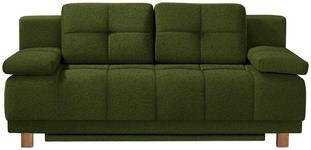 BOXSPRINGSOFA in Textil Dunkelgrün  - Chromfarben/Dunkelgrün, MODERN, Textil/Metall (202/92/104cm) - Novel