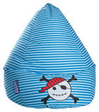 SITZSACK Flachgewebe Blau, Hellblau - Blau/Hellblau, Design, Textil (70/110cm) - Carryhome