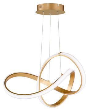LED-PENDELLAMPA - guldfärgad, Design, metall/plast (55/150/55cm) - Ambiente