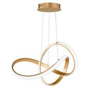LED ZÁVĚSNÉ SVÍTIDLO - barvy zlata, Design, kov/umělá hmota (55/150/55cm) - Ambiente